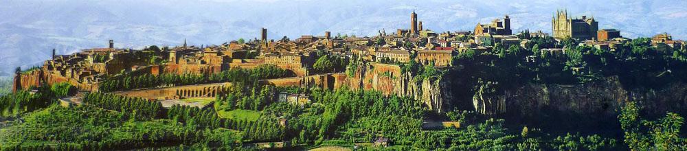 <span>Город Орвьето, уединенный на вершине туфовой горы, был основан древними этруссками </span>